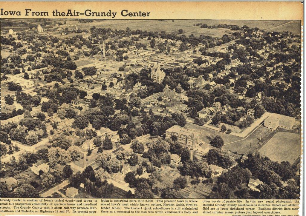 old Grundy Center Photo - undated