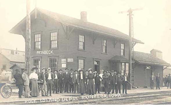 The old train depot that was in the City of Reinbeck.